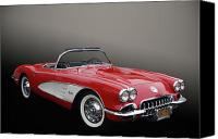 Vet Canvas Prints - 59 Corvette Canvas Print by Bill Dutting