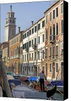 Gondoliers Canvas Prints - Venezia Canvas Print by Joana Kruse