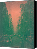 Nyc Photo Canvas Prints - 5th Avenue Canvas Print by Irina  March