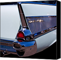 Custom Grill Canvas Prints - 1957 Chevy Bel Air Custom Hot Rod Canvas Print by David Patterson