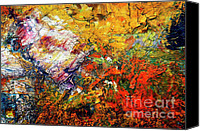 Dry Painting Canvas Prints - Abstract Canvas Print by Michal Boubin