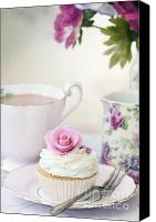 Tea Party Canvas Prints - Afternoon tea Canvas Print by Ruth Black