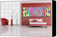 Bold Colors Canvas Prints - An Example of Modern Art by Rolf Bertram in an Interior Design Setting Canvas Print by Rolf Bertram