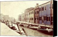 Waterway Canvas Prints - Burano Canvas Print by Joana Kruse