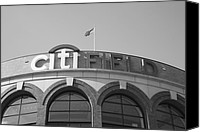 Mlb Photo Canvas Prints - Citi Field - New York Mets Canvas Print by Frank Romeo