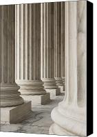 Architectural Detail Canvas Prints - Columns of the Supreme Court Canvas Print by Roberto Westbrook