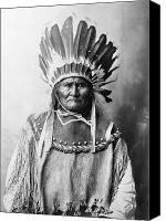 Buckskin Canvas Prints - Geronimo (1829-1909) Canvas Print by Granger