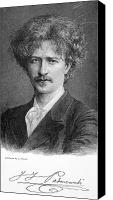 Hairstyle Canvas Prints - Ignace Jan Paderewski Canvas Print by Granger