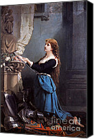 Woman At The Well Canvas Prints - Joan Of Arc, French National Heroine Canvas Print by Photo Researchers
