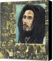 Rebel Mixed Media Canvas Prints - Reggae Rebel Canvas Print by Megan Welcher