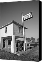 Ok Canvas Prints - Route 66 - Lucilles Gas Station Canvas Print by Frank Romeo