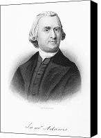 American Revolution Canvas Prints - Samuel Adams (1722-1803) Canvas Print by Granger