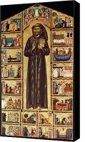 Medieval Canvas Prints - St Francis Of Assisi Canvas Print by Granger