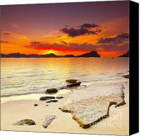 Tropical Sunset Canvas Prints - Sunset Canvas Print by MotHaiBaPhoto Prints
