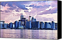 Canada Canvas Prints - Toronto skyline Canvas Print by Elena Elisseeva
