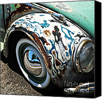 Wing Mirror Canvas Prints - 61 Volkswagon Bug Canvas Print by Gwyn Newcombe
