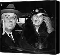 First Couple Canvas Prints - President Franklin D. Roosevelt Canvas Print by Everett