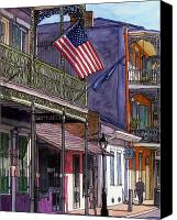 Louisiana Drawings Canvas Prints - 67 Canvas Print by John Boles