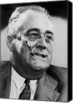 1940s Portraits Canvas Prints - President Franklin D. Roosevelt Canvas Print by Everett