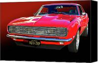 Photomanipulation Photo Canvas Prints - 68 SS Camaro Canvas Print by Bill Dutting