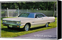 Antique Automobiles Photo Canvas Prints - 69 Plymouth Sport Fury Canvas Print by Thomas Schoeller