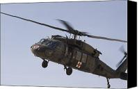 Operation Iraqi Freedom Canvas Prints - A Uh-60 Blackhawk Medivac Helicopter Canvas Print by Terry Moore