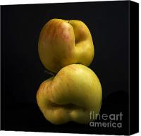 Food And Drink Canvas Prints - Apples Canvas Print by Bernard Jaubert