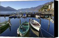 Motor Boats Canvas Prints - Ascona - Lake Maggiore Canvas Print by Joana Kruse