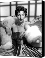 1950s Fashion Canvas Prints - Ava Gardner Canvas Print by Everett