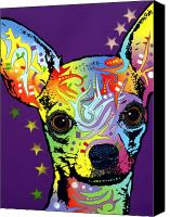 Dean Russo Mixed Media Canvas Prints - Chihuahua Canvas Print by Dean Russo