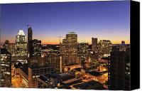 Austin Skyline Canvas Prints - City Skyline Canvas Print by Jeremy Woodhouse