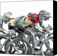 Riding Canvas Prints - Cyclists Canvas Print by Bernard Jaubert