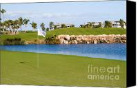 Golfing Canvas Prints - Florida Gold Coast Resort Golf Course Canvas Print by ELITE IMAGE photography By Chad McDermott