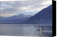 Sail Boat Canvas Prints - Lago Maggiore Canvas Print by Joana Kruse