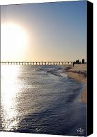 Not In Service Canvas Prints - Pensacola Beach Canvas Print by Thea Gilliam