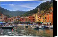 Rowing Canvas Prints - Portofino Canvas Print by Joana Kruse