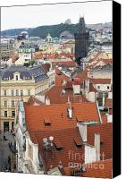 Charles Bridge Canvas Prints - Streets of Prague Canvas Print by Andre Goncalves
