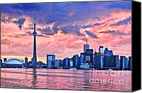 Architecture Photo Canvas Prints - Toronto skyline Canvas Print by Elena Elisseeva