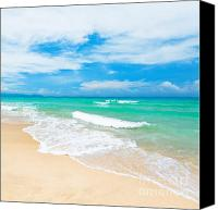 Summer Photo Canvas Prints - Beach Canvas Print by MotHaiBaPhoto Prints