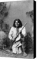 Indian Portrait. Native American.southwest. Canvas Prints - Geronimo (1829-1909) Canvas Print by Granger