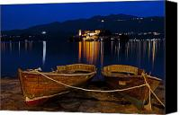 Rowing Canvas Prints - Island of San Giulio Canvas Print by Joana Kruse