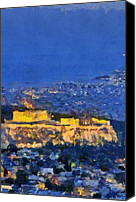View Canvas Prints - Acropolis of Athens Canvas Print by George Atsametakis
