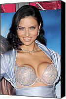 Appearance Canvas Prints - Adriana Lima At In-store Appearance Canvas Print by Everett