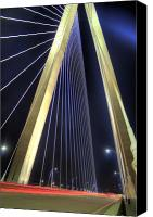 Ravenel Bridge Canvas Prints - Arthur Ravenel Jr. Bridge  Canvas Print by Dustin K Ryan