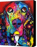 Hound Canvas Prints - Basset Hound Canvas Print by Dean Russo