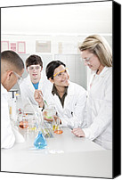 Talking Canvas Prints - Chemistry Lesson Canvas Print by