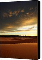 Coral Pink Sand Dunes Canvas Prints - Coral Pink Sand dunes at sunset Canvas Print by Pierre Leclerc