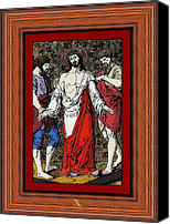 Cat Glass Art Canvas Prints - Drumul Crucii - Stations Of The Cross  Canvas Print by Buclea Cristian Petru