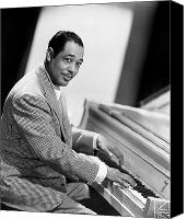 Piano Canvas Prints - Duke Ellington (1899-1974) Canvas Print by Granger