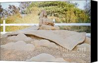 Aladdin Canvas Prints - Fairytale Sand Sculpture  Canvas Print by Shay Velich